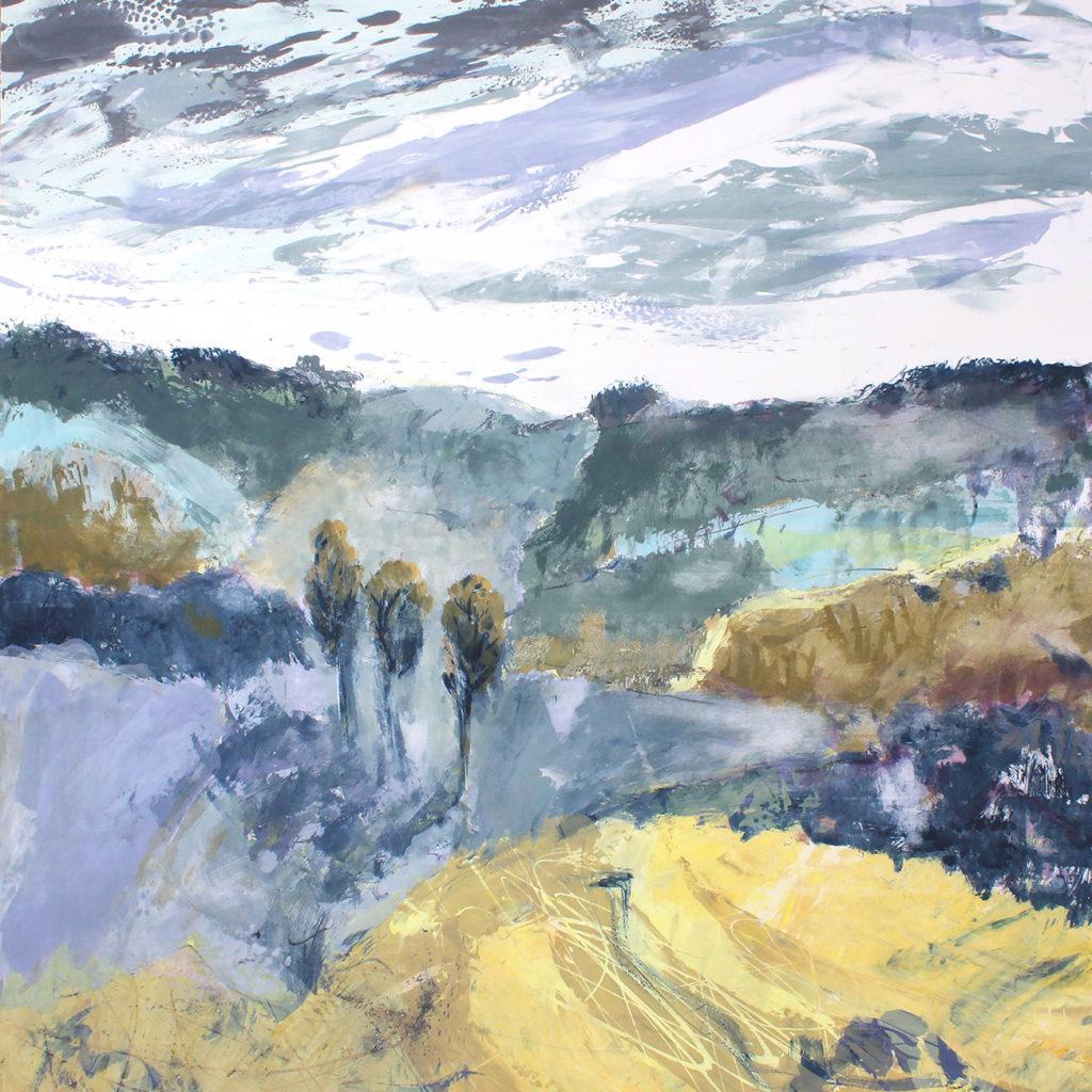 Where The Cuckoo Calls Silkscreen Painting Gail Mason