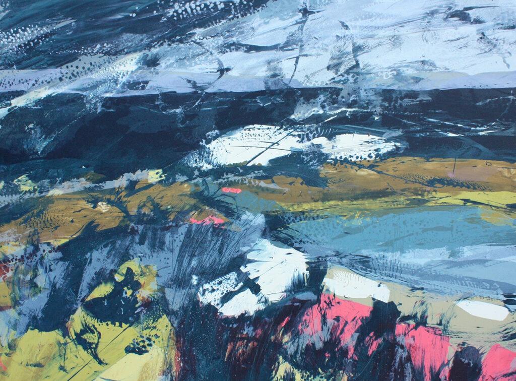 Bolero Silkscreen Painting Gail Mason